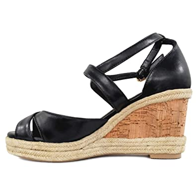 9d9ac8673d0 MERUMOTE Women's Wedges Sandals Platform Shoes Summer Middle Heels Ankle  Strap Sandals