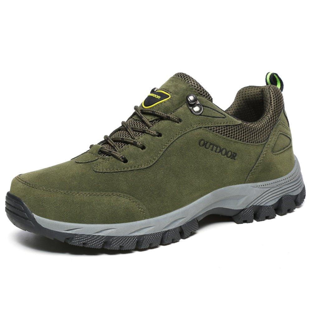 NEOKER Wanderschuhe Trekking Schuhe Herren Damen Sports Outdoor Hiking Sneaker Armee Gruuml;n Blau Schwarz Grau 36-48  (44EU)|Gr眉n-2