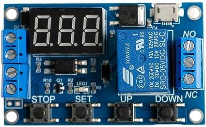 ILS Modulo rel/è temporizzatore temporizzato a ciclo infinito 24 V DC ritardato on//off LCD digitale Display