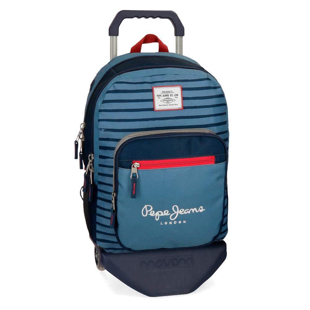 ペペジーンズヤロースクールバックパック44センチ19.8ブルー(アズール)   B07NZ252GS