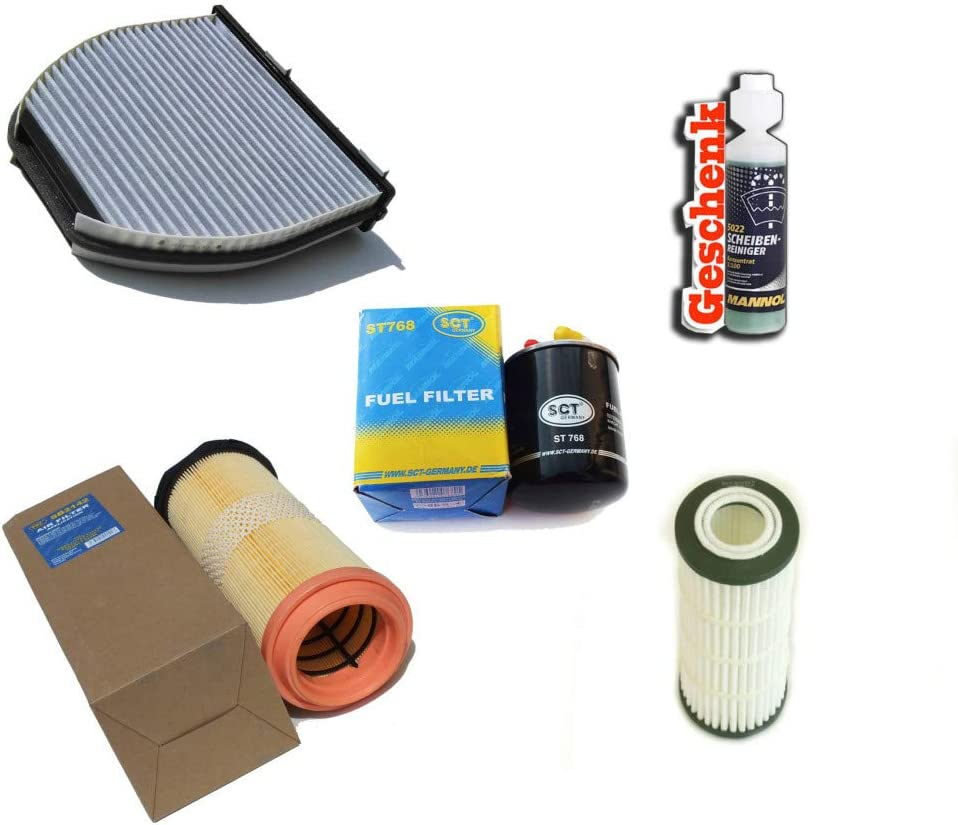 Inspektionspaket Filteristen Aktivkohlefilter Sct Luftfilter Ölfilter Kraftstofffilter Geschenk Auto