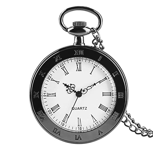 Amazon com: Vintage Open Face Roman Numerals Pocket Watch