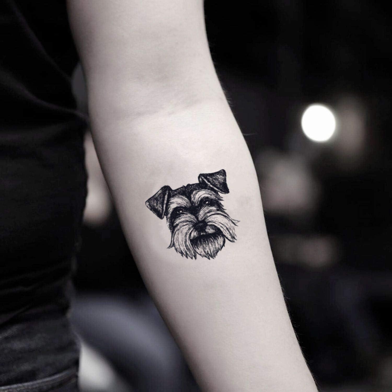 Tatuaje Temporal de Schnauzer (2 Piezas) - www.ohmytat.com: Amazon ...