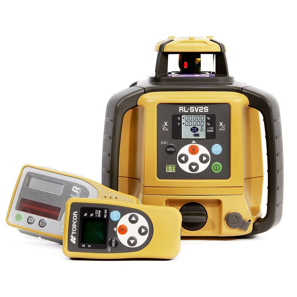 Topcon RL-SV2S Dual Grade Rotary Laser with BONUS EDEN Field Book | IP66 Rating Drop, Dust, Water Resistant | 800m Construction Laser | Includes LS-80L Receiver, Detector Holder, Hard Case by TOPCON (Image #2)