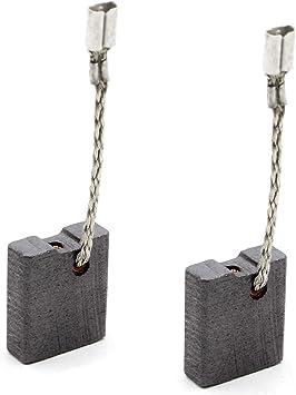 Balais de Charbon pour MILWAUKEE 384792 marteau 5x10x16mm 2.0x3.9x6.3