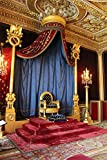 OFILA Vinyl Palace King's Throne Backdrop 3x5ft Candles Curtain Carpet Ceiling Building Tourism Photography Background Video Studio Props Children Baby Kids Portraits