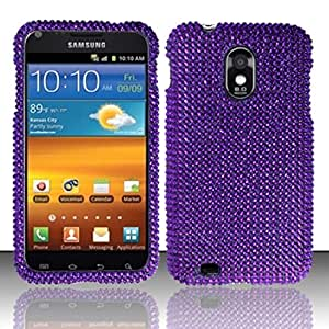 For Samsung© Epic Touch 4G D710/Galaxy S2 Full Diamond Design - Purple
