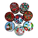 Round Nesting Tins, designs may vary