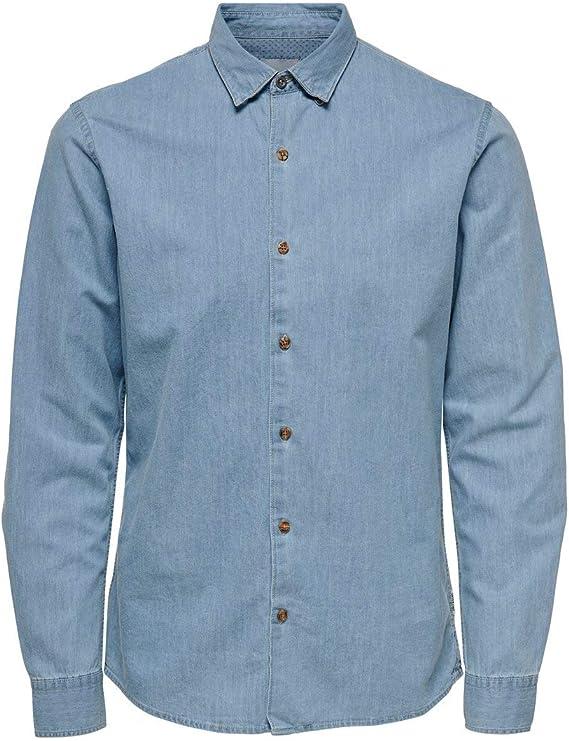 Only & Sons Onsask LS Chambray Shirt Noos Camisa Casual para Hombre