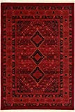 Traditional Bokhara Collection Area Rugs Red 7' x 10' FT Traditional rugs for living room - rugs for dining room & bedroom - Floor Carpet Home Décor