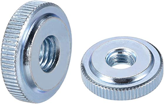 Pack of 5 M8 Female Threaded Thin Type uxcell Knurled Thumb Nuts Blue Zinc Plating