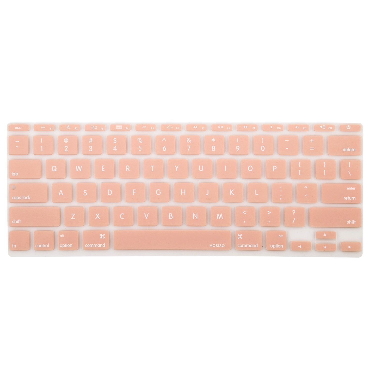 Mosiso Protective Keyboard Cover Skin for MacBook Air 11 Inch (Models: A1370 and A1465), Rose Quartz 6860190