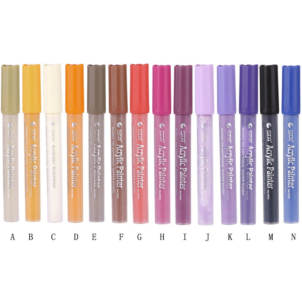 Clearance 1Pc Metallic Marker Pen,Rock Art Painting,Glass,DIY Photo Album,Water Ink, Acid Free and Non-Toxic,Quick-Dry Marker Pen(12 Colors) (K) by Tuscom@ (Image #3)