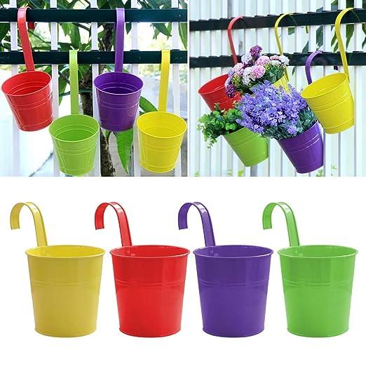 Mondeer 4 jarrones de Flores para Flores para Colgar Canasta sin ...