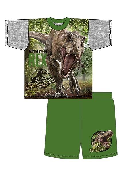 Jurassic World Pijama dos piezas - para niño Negro Shortie - T Rex Edad 4/