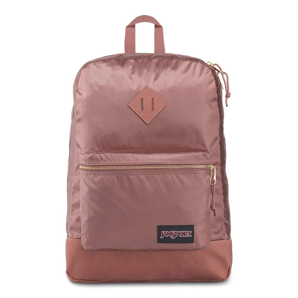 JanSport Super FX Backpack - Trendy School Pack With A Unique Textured Surface | Mocha Gold Premium Poly by JanSport