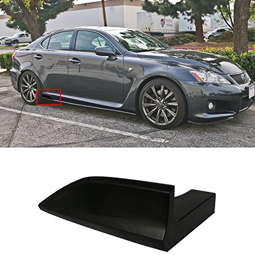 Neon Side Skirts - Side Skirts UNIVERSAL FITMENT   6.5 x 2.5 inches V2 Style Winglet Add On Side Skirt Extensions - PP Black Universal by IKON MOTORSPORTS