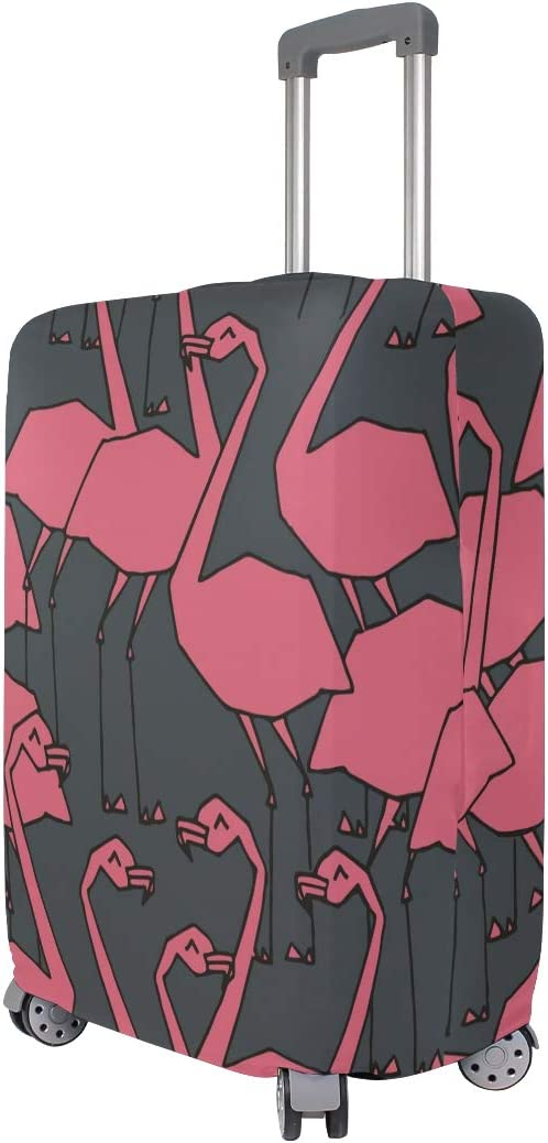 FANTAZIO Pink Flamingo Patern Suitcase Protective Cover Luggage Cover