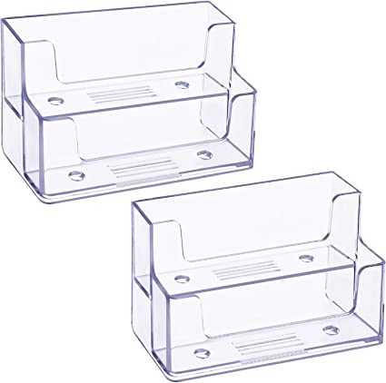 2 Pack Soporte de Tarjetas de Visita Transparente Organizador de ...