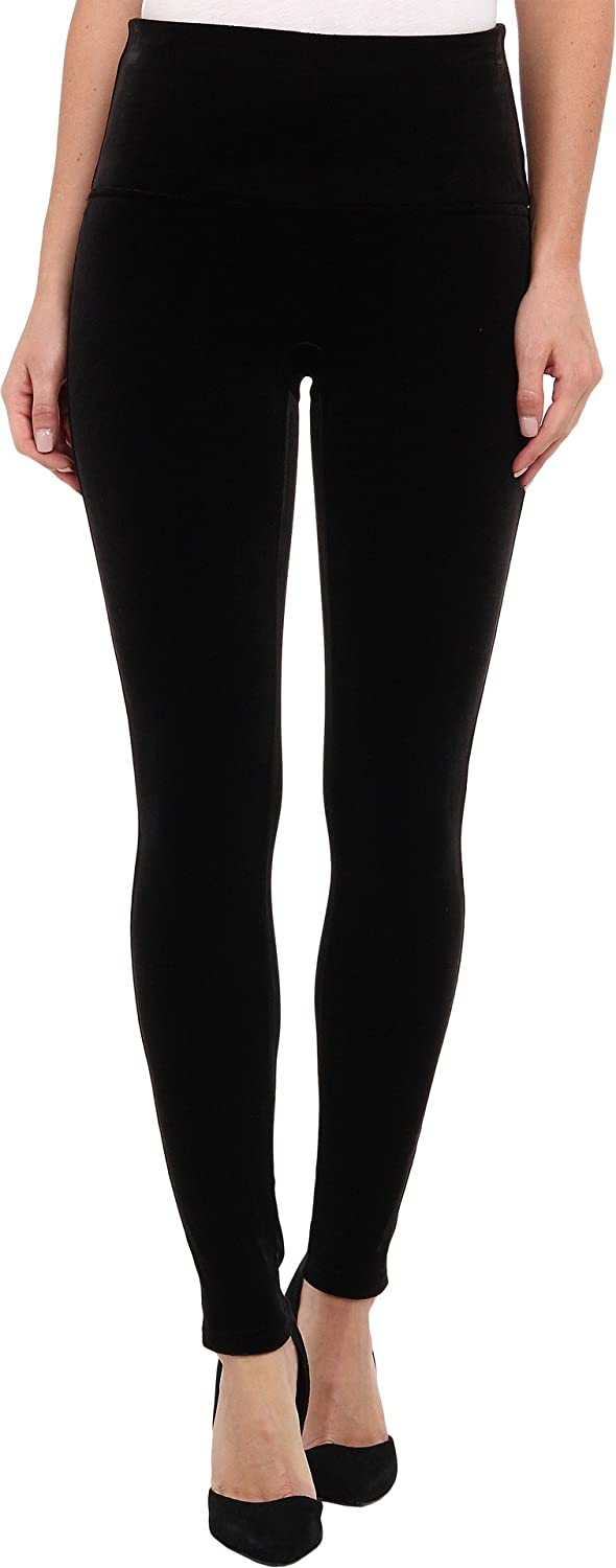 Women's Ready to Wow Black Velvet Leggings by SPANX - DeluxeAdultCostumes.com