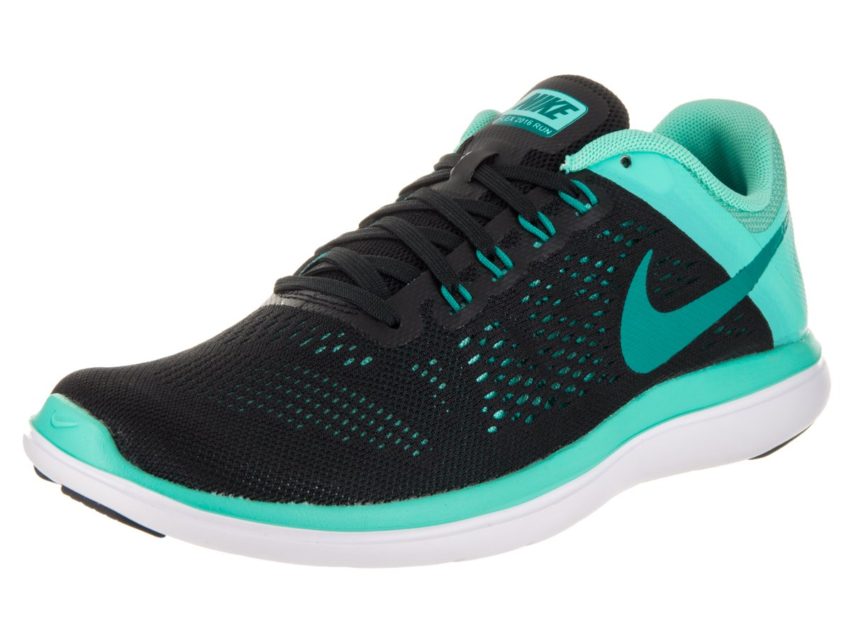 NIKE Women's Flex 2016 Rn Running Shoes B005OC0U5O 11.5 B(M) US|Black/Rio Teal/Hyper Turquoise/White