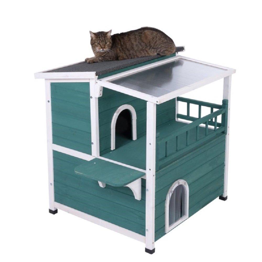 Casa grande para gatos con techo solar: Amazon.es: Productos para mascotas