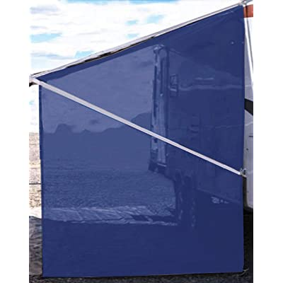 Tentproinc RV Awning Sunshade Screen ● Navy Blue Mesh Sun Shade ●Block Sunshine from Patio Side Direction ●Motorhome Camping Trailer UV Sunblocker ●Canopy Sunscreen-3 Years Lasting: Automotive