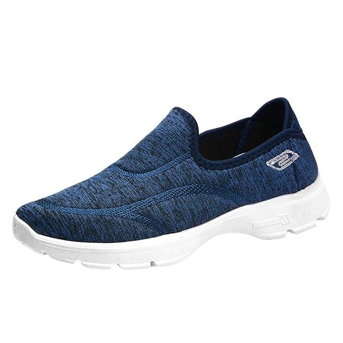 beautyjourney Zapatos Casual de Mujer Zapatillas Sin Cordones Zapatos Casuales Planos Zapatos Ligeros de Tejido elástico Transpirable: Amazon.es: Ropa y ...