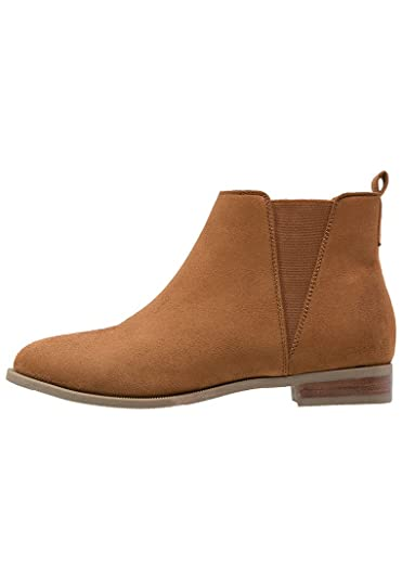 9d55eabeb740 ANNA FIELD Women s Ankle Chelsea Boots - Low Top Ankle Booties with Flat  Heel in Brown