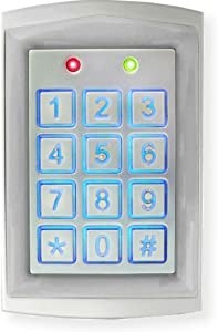 Seco-Larm SK-1323-SDQ Sealed Housing Weatherproof Stand-Alone Digital Access Keypad, Up to 1010 Users, Proximity Reader, Backlit Keys for Nighttime Use, Rugged Aluminum Construction, Pack of 1