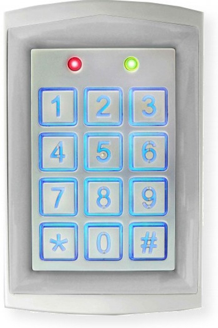 Seco-Larm SK-1323-SDQ Sealed Housing Weatherproof Stand-Alone Digital Access Keypad, Up to 1010 Users, Proximity Reader, Backlit Keys for Nighttime Use, Rugged Aluminum Construction, Pack of 1 by Seco-Larm