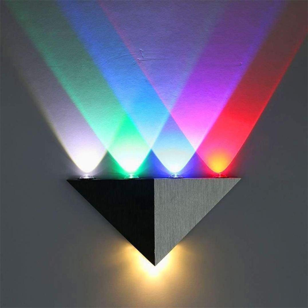 Vacally Modern 5W LED Wall Sconce Light Fixture Wall Lamp Spot Light Decorative Lighting Bedside Lamp Prefect for Bedroom Living Room (Black A)