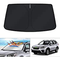 KUST Windshield Sun Shade Blocks UV Rays Sun Visor Protector Foldable Sunshade for Subaru Forester SUV 2019 2020 Keep…
