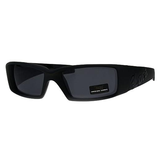 31461ac2f1e Locs Classic 90s Cholo Gangster Narrow Rectangular All Black Warp  Sunglasses Matte