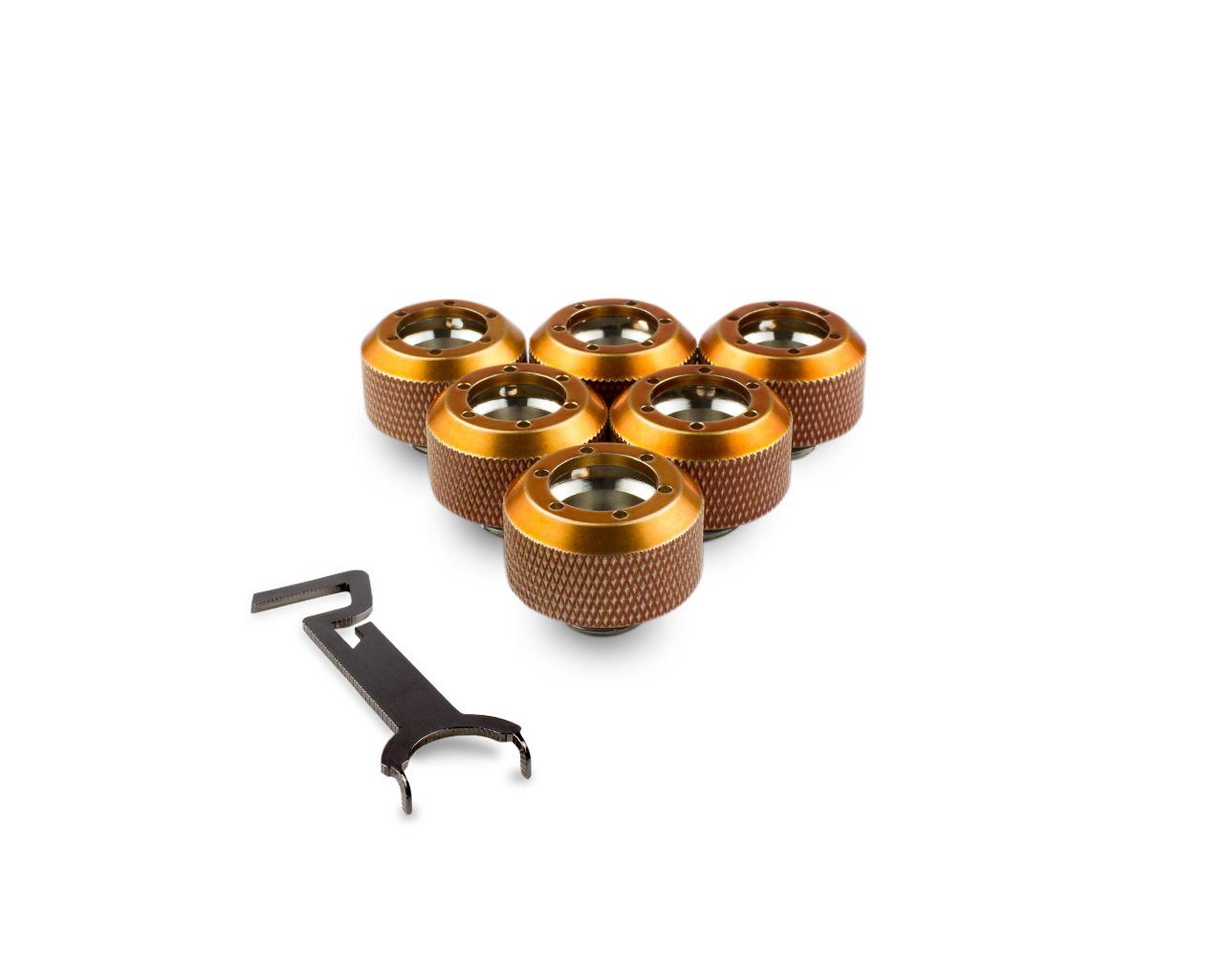 PrimoChill 1/2in. Rigid RevolverSX Series Fitting - Candy Copper - 6 Pack