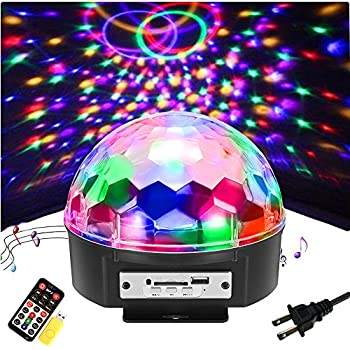 amazon com solmore 9 color led disco ball party lights strobe light