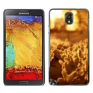TopCaseStore / la caja del caucho duro de la cubierta de protección de la piel - Abstract Yellow - Samsung Galaxy Note 3 N9000 N9002 N9005