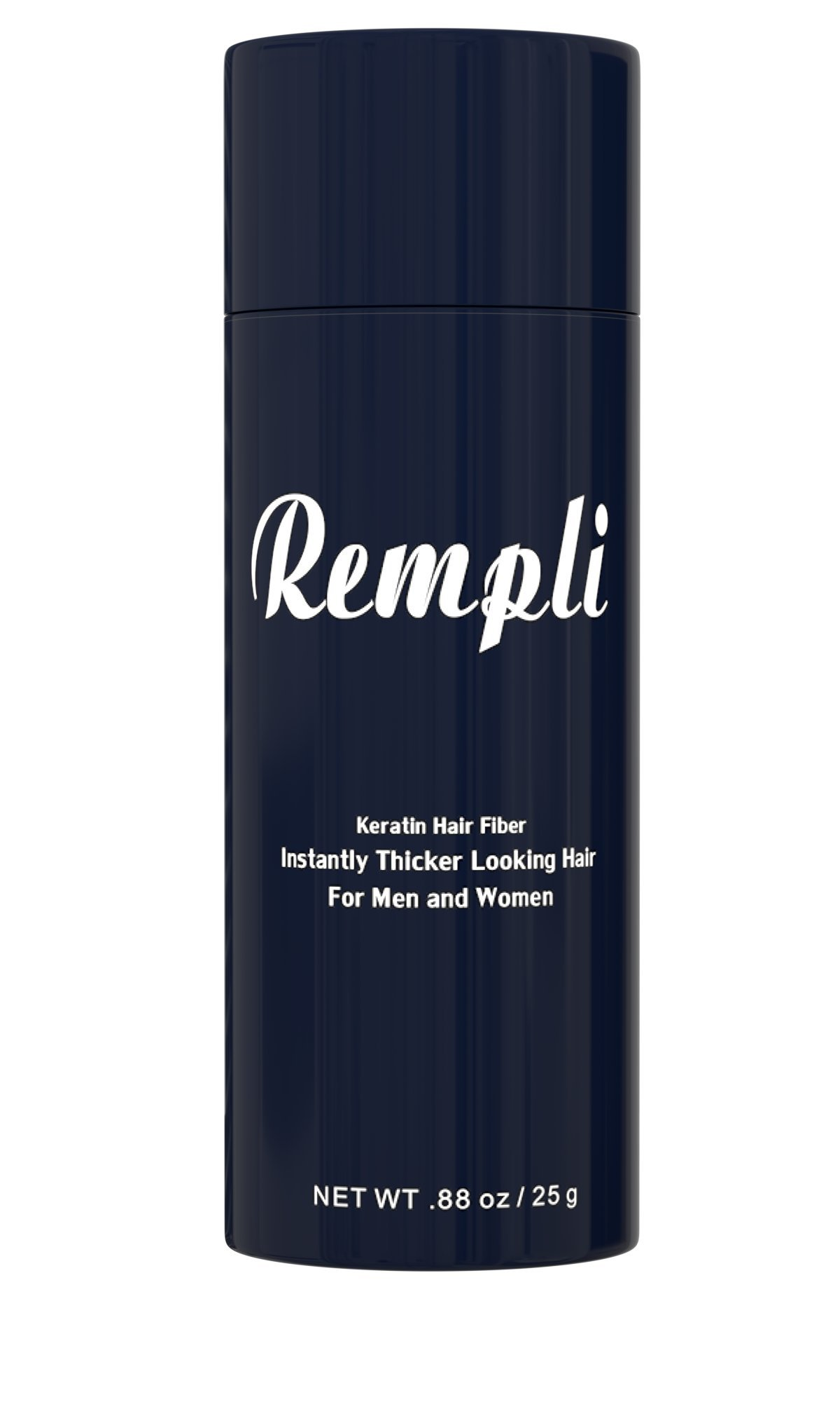 Rempli Keratin Instant Hair Fibers Beard Filler LARGE 25g (.88oz) 60 Day Supply (Black)