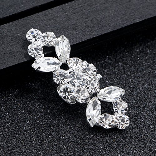 2PCS Fashion Crystal Rhinestone Shoe Clips Shoes Decoration Charms Shoe Buckle for Women Girls Party Bridal Wedding by Fodattm (Image #6)