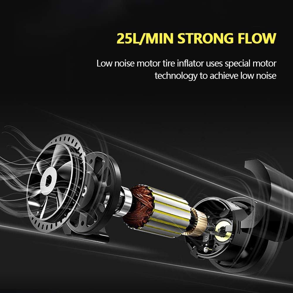 Relax love Compressore Aria Portatile Auto 12v 100PSI Silenziosa Pompa Elettrica Pneumatici Auto SUV Moto Gonfiatore Pneumatici RV//ATV con Cavo 3 Metri 25L//Min