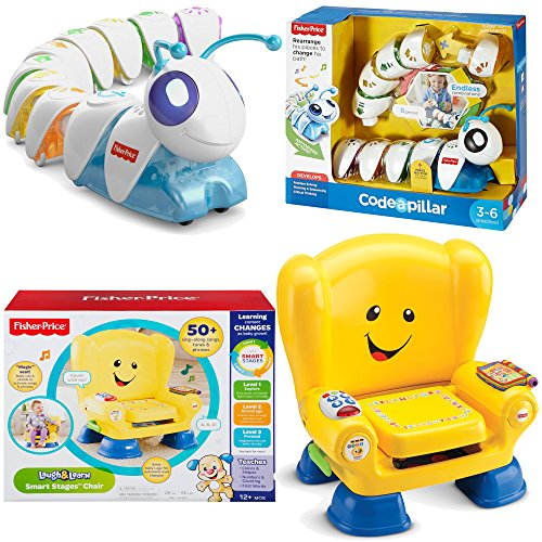Fisher Price Educational Learning Electronics Toys 2-Piece Bundle, Think Laugh & Learn Code a Pillar and Smart Stages Chair (Bath Center Fisher Price compare prices)