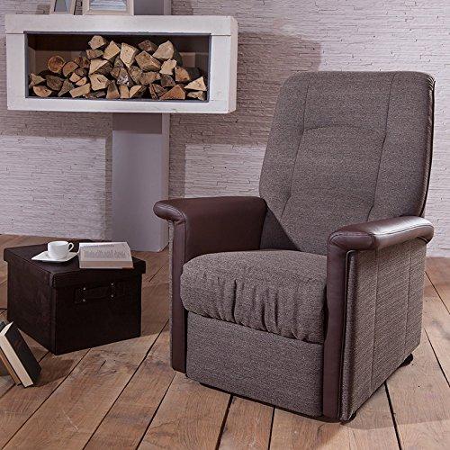 TV Sessel RIPENDRA242 Kunstleder braun inkl. 2 Motoren + Aufstehhilfe