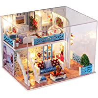 Miniature Super Mini Size Doll House Model Building Kits Wooden Furniture Toys DIY Dollhouse Girl Bedroom Home of Helen