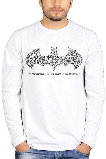 2735e89f7 The Banyan Tee Full Sleeves Creative Batman Logo Tshirt – Movie Tshirts:  Amazon.in: Clothing & Accessories