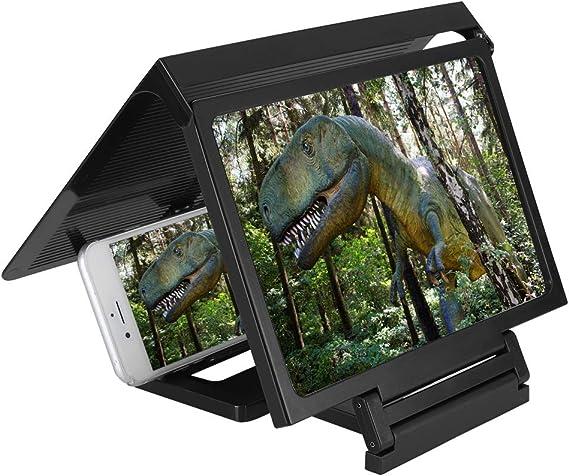 Wendry Lupa de Pantalla 3D de Teléfono Móvil, Amplificador de Pantalla Teléfono Inteligente, Ampliador de Pantalla de Teléfono Celular, Lupa de Video HD Ampliar Pantalla (Negro): Amazon.es: Electrónica
