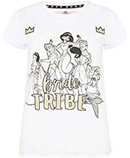 Primark Ladies Womens Girls Disney Bride Tribe T Shirt Hen Party Bride to BE Wedding UK