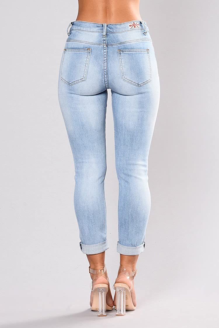 Maxi Yes Jeans De Mujer De Moda 2018 Colombianos Levanta Cola at Amazon Womens Jeans store
