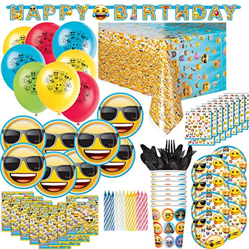 Emoji Birthday Party Supplies and Decorations