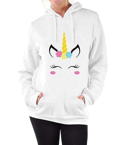 online store 50382 81dd6 AureQet Damen Hoodie Einhorn Sweatshirt Pullover Sport Langarmshirt