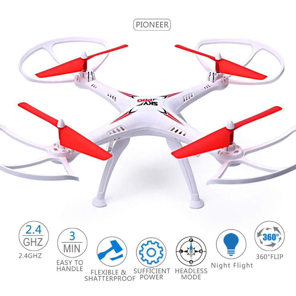 WANGOFUN Flight Drone, RC Helicopter Drone con giros y Rollos de ...